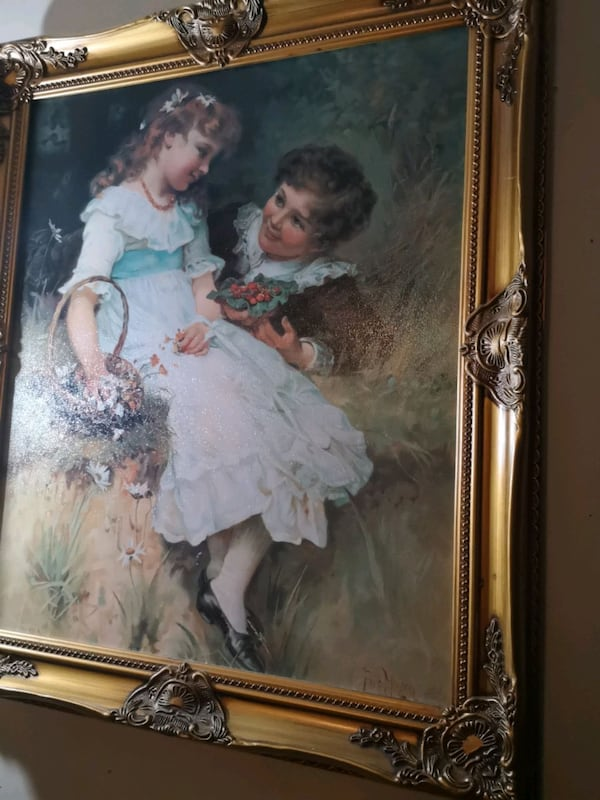 Fred Morgan painting signed and framed 4192ea2a-a523-46ad-999e-3c4ea3b190fe
