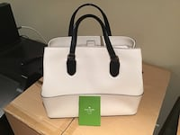 white and black Kate Spade leather tote bag Toronto, M6S 1L5