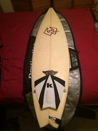 "Surfboard and Bag - 5'8"" Wooster Fort Myers, 33967"