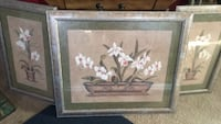 brown wooden framed painting of white flowers Bakersfield, 93306