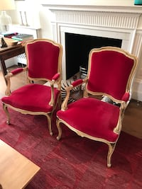 two red-and-white armchairs London, W12 8AD