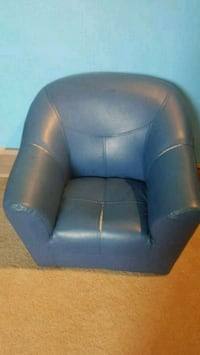 blue leather sofa chair with ottoman London, N6J 4W9