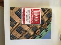 Thinking Government book perfect condition Toronto, M9R 2R9