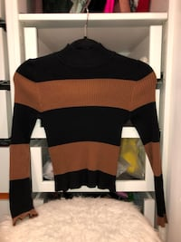 Black and brown striped turtle neck