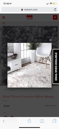 Nuloom white shaggy rug....SO SOFT!