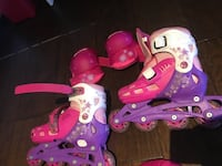 Girls roller blades , elbow pads and knee pads. Size 1-2 or Y12-13 . From a pet free and smoke free home .  Toronto, M4M 2R1