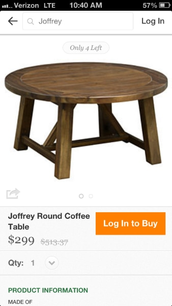 Round Coffee Table (One Kings Lane)