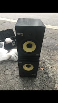 black and yellow subwoofer speaker Hyattsville, 20785