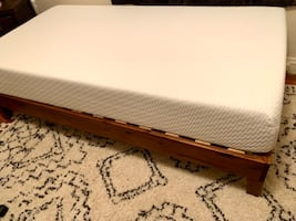 New Tuft and Needle Twin Mattress and Wood Platform Bed