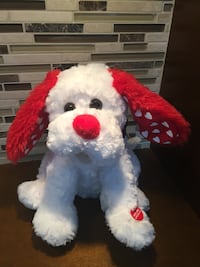 Red & White Valentine Animated Plush Dog Sings Shout Bolton, L7E 1X7