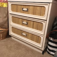 white and brown wooden 3-drawer chest Sayreville, 08859