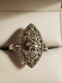Vintage Chocolate Diamond Ring Set In Fine Sterlin