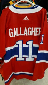 red and white and blue and white jersey shirt Montréal, H3N 2R6