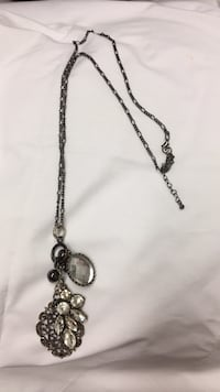 silver-colored chain necklace with pendant Abilene, 79603