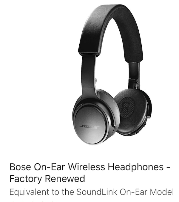 Bose Wireless Headphone Factory Renewed and Never used