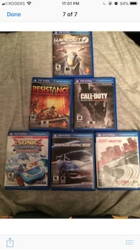 eight assorted PS4 game cases Brantford, N3R 7H6