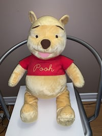 "Winnie the Pooh Plush Toy 80th Anniversary 24"" Excellent Condition"