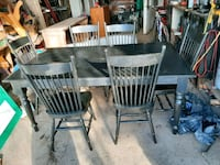 Solid wood 6 chair table Welland