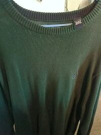 green knit scoop-neck sweater