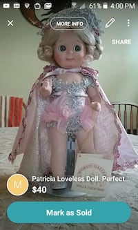 porcelain doll in pink dress screenshot Minneapolis, 55407