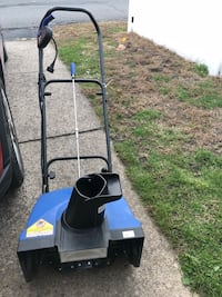 Black and blue snow blower. Only used one season, works great!  West Pittston, 18643
