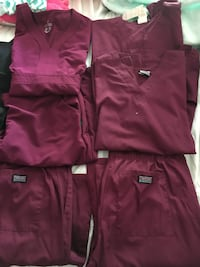 Four red scrub tops and two bottoms Elizabethtown, 42701