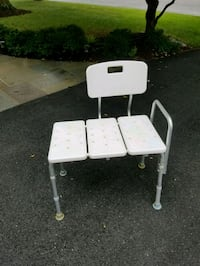 white and gray metal folding chair Gaithersburg, 20878