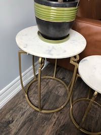 Marble and Brass Side Tables Richmond Hill, L3T 7Z5