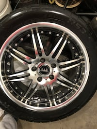 Sport tires and rims: excellent condition