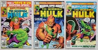 Marvel Super-Heroes comic lot (3) Mount Airy