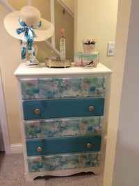 Dresser with decoupage & detailed drawers Marshfield, 02050