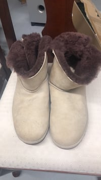 pair of white UGG Mini Bailey Button boots Allentown, 18109
