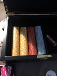 High end Poker chip with case North Vancouver, V7H 1A8