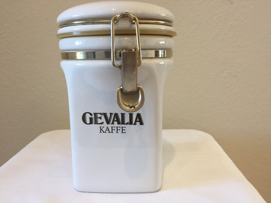 Used Vintage Gevalia Kaffe Ceramic Storage Container ~ Coffee Jar in Phoenix & Used Vintage Gevalia Kaffe Ceramic Storage Container ~ Coffee Jar in ...
