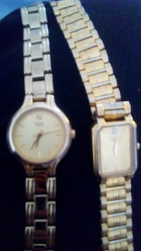 two square and round gold-colored analog watches with link bracelets St. Albert, T8N 3Z3