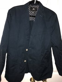 Navy blue H&M button-up coat (slim fit) Size CA 44R Toronto, M1C 5B1
