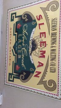 Old sleeman beer  tin sign mint condition  Orangeville, L9W 3E7