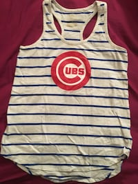 MLB Chicago Cubs striped Logo tank top size small