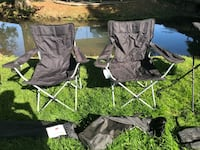 2 black camping chairs  Turner, 97392