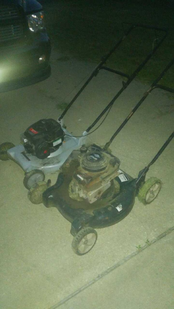Used Gray And Black Walk Behind Lawn Mower For Sale In