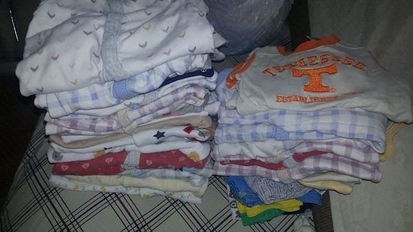 Over 85 baby clothing items