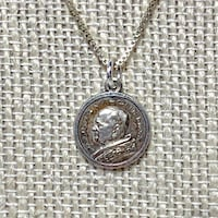 Genuine Sterling Silver Pope Catholic Pendant with Sterling Chain Ashburn