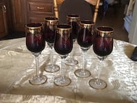 Detailed Coloured Wine Glasses Mississauga, L5A 2X7
