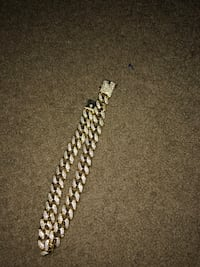 18' gold gods iced out cuban choker Portsmouth, 23703