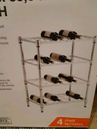 HDX 4 shelf wine rack