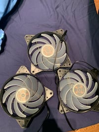 3x120MM RGB COOLERMASTER CASE FANS! COMES WITH CONTROLLER! TORONTO