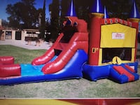 red, yellow and blue inflatable slide Escondido, 92025
