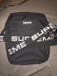 Black and white Supreme SS18 Shoulder Bag Woodbridge, 22193