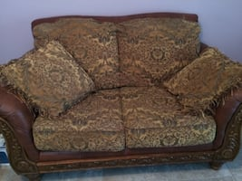 Matching Sofa and love Seat with pillows