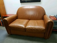 brown leather 2-seat sofa Los Angeles, 90036
